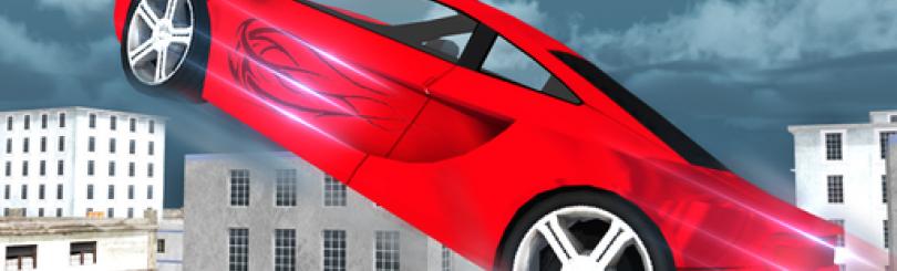 Flying Rooftop Car Sprint Simulator 3D - Stunt Car Driving